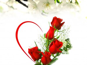 beautiful-creative-red-rose-flower-with-heart-and-green-leafs
